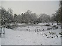 TM1645 : The Round Pond, Christchurch Park by Chris Holifield