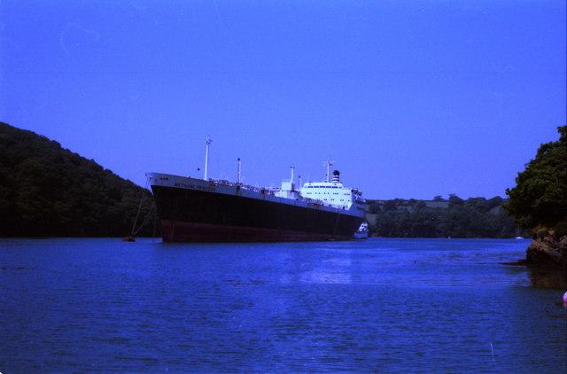 Methane Princess moored on the River Fal