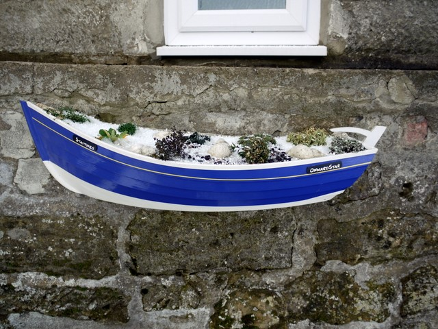 Coble fishing boat planter, Boulby