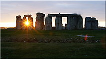 SU1242 : Stonehenge Sunset (1) by Peter Trimming