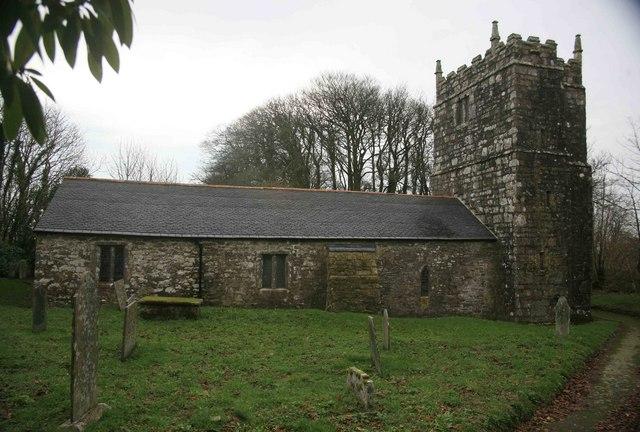 Warleggan Church from the grave yard