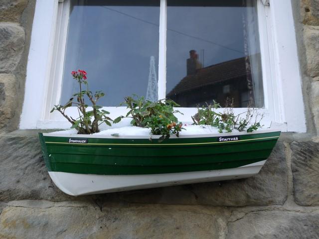 'Stonehaven' fishing coble planter, High Street