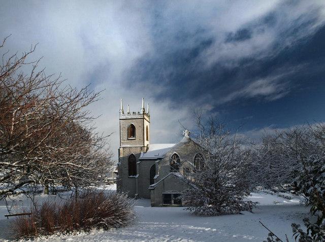 Kirkcowan Church from the west