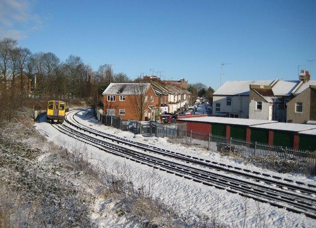 Watford: Railway line between Watford High Street and Bushey stations