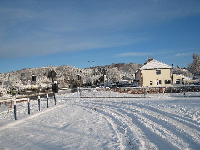 Snow at Swan's Corner, Nunthorpe