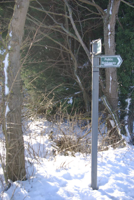 Public bridleway signs by Old Tollbar House