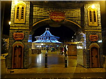 SZ0891 : Bournemouth: entering The Square on a December evening by Chris Downer