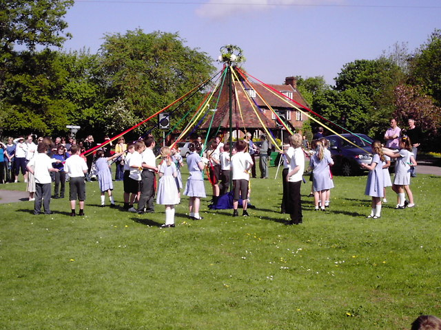Maypole Dancing on Village Green