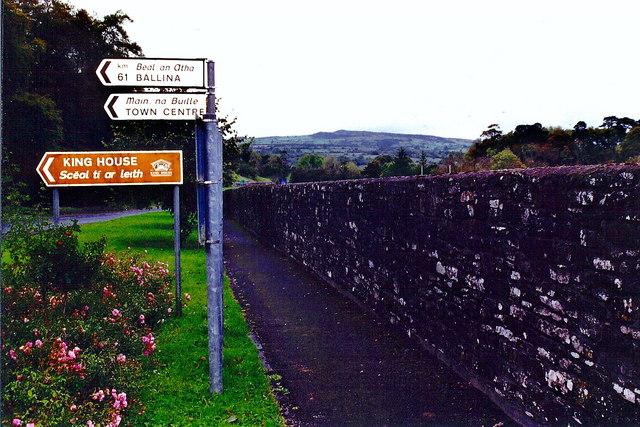 Boyle - Road signs near Boyle Abbey