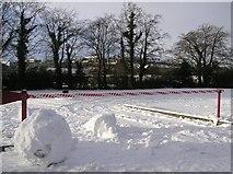 H4573 : Snow-bound carpark, The Grange, Omagh by Kenneth  Allen