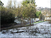 SU9948 : View down onto the road from St Catherine's Hill by Basher Eyre