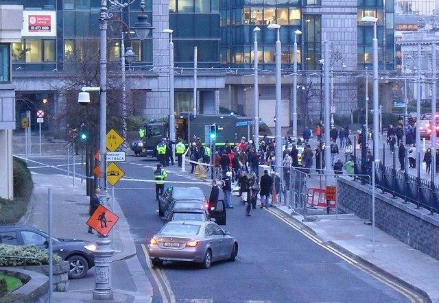 Security Alert on Mayor Street, Dublin