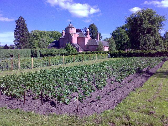 Poyntzfield house from the herb nursery gardens