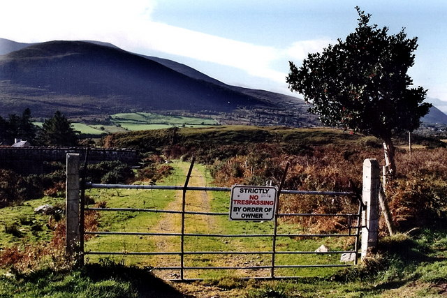 Ring of Kerry - Gate with No Trespassing sign off N72