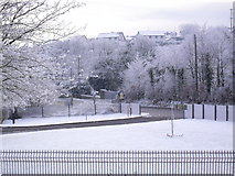 J2053 : Snow at the Fire Station, Dromore by Dean Molyneaux