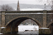 NT2540 : An arch of the Tweed Bridge, Peebles by Jim Barton