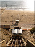 SZ0990 : Bournemouth: the East Cliff Lift from above by Chris Downer