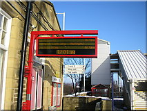 SE1537 : Shipley Station, Platform 3 Departure Sign by Stephen Armstrong