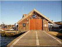 SZ1891 : Mudeford: the lifeboat station from the front by Chris Downer