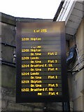 SE1537 : Shipley Station Departure Sign on Christmas Day by Stephen Armstrong