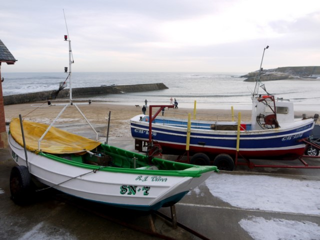 'James Denyer' coble fishing boat, Cullercoats