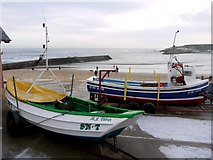 NZ3671 : 'James Denyer' coble fishing boat, Cullercoats by Andrew Curtis