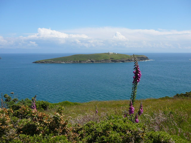 On the coast south east of Machroes looking towards St Tudwal's Island West