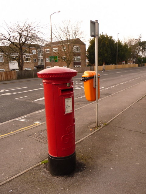 Oakdale: postbox № BH15 143, Wimborne Road