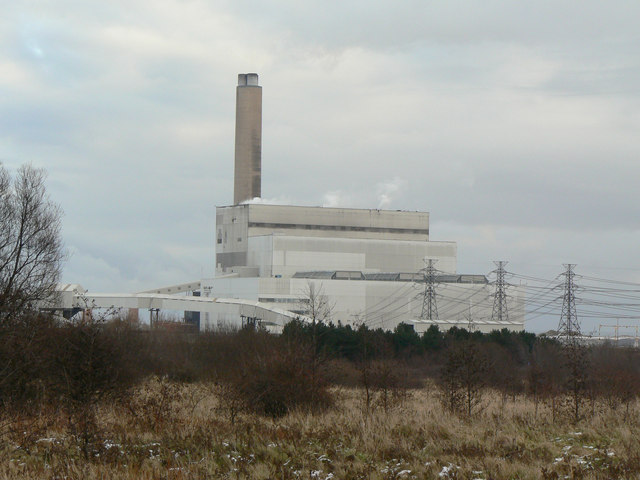 View towards Lynemouth Power Station