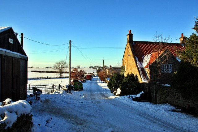 Bank Foot Lane in the snow