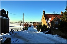 NZ5906 : Bank Foot Lane in the snow by Paul Buckingham