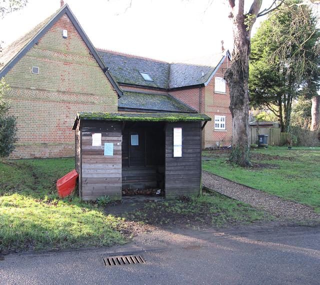 Bus stop, Weston Green