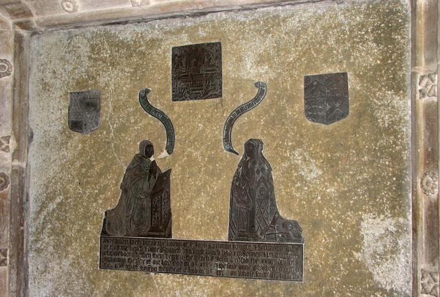 All Saints church - memorial to Sir John Spelman and wife