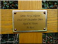 TG2227 : Plaque on Wooden Cross in Memory of Jessie Pilgrim by Christine Matthews