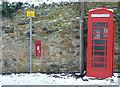 NT1877 : Cramond Inn Post box and telephone box by Alan Murray-Rust