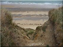 TG2142 : Cliff erosion at Cromer, Norfolk by Christine Matthews