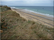 TG2142 : Cromer cliff top and beach, Norfolk by Christine Matthews