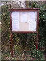 TM3569 : Sibton Village Notice Board by Adrian Cable