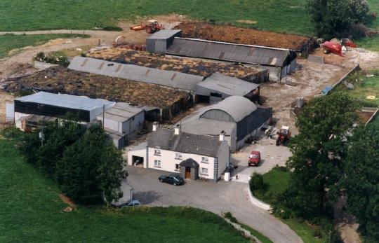 Aerial view of Joe & Mary Keane's farm