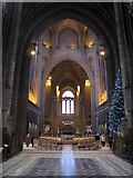 SJ3589 : Inside the Anglican Cathedral by John S Turner