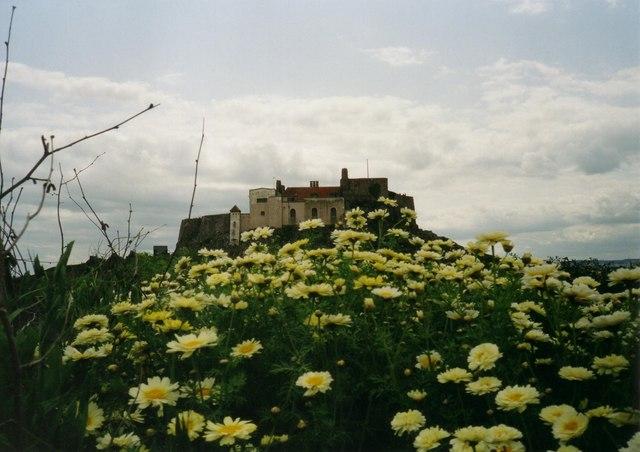 Lindisfarne Castle from the Gertrude Jekyll garden