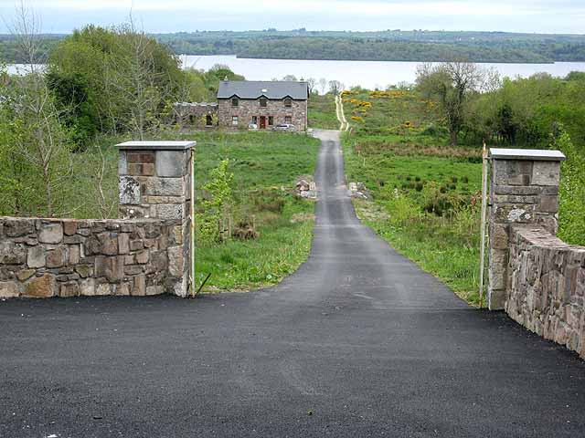 Driveway and house at Smutternagh