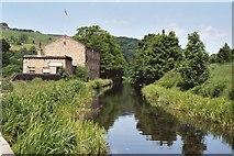 SE0424 : Luddenden Foot - mill near Longbottom Bridge by Dave Bevis