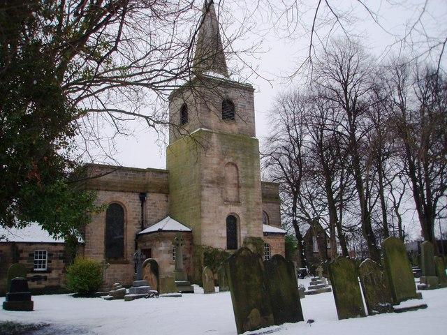 Gravestones in Gosforth Parish Church