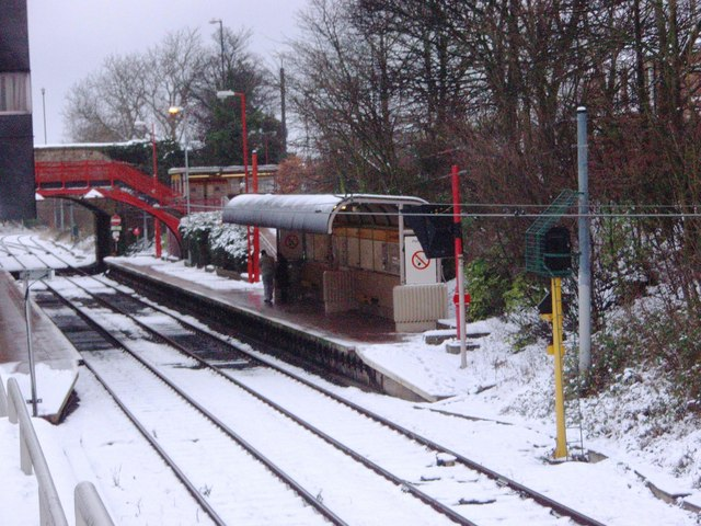 Platform at South Gosforth Metro station