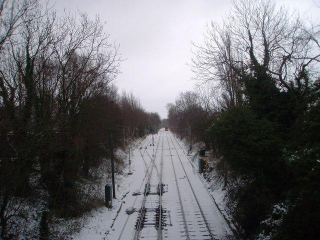 Metro railway lines (view south)