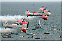 SZ1090 : Bournemouth Air Festival 2009 - Team Guinot wingwalkers by Mike Searle