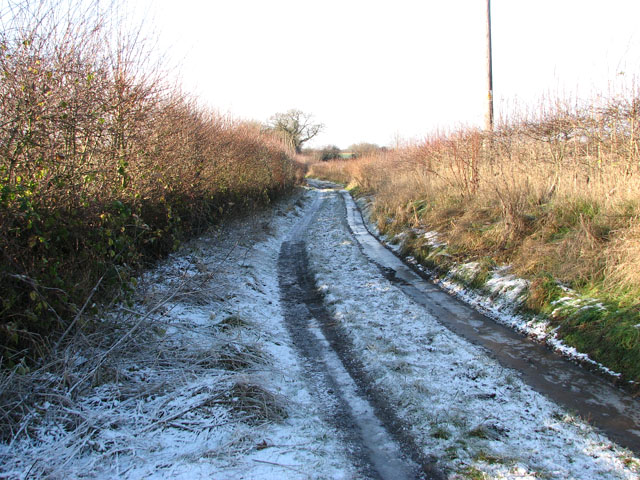 Frosty track west of Church Lane