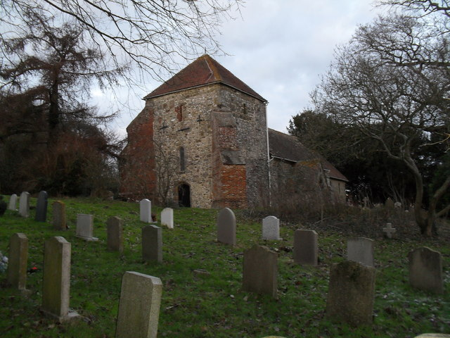 The church tower at St Mary, Bepton