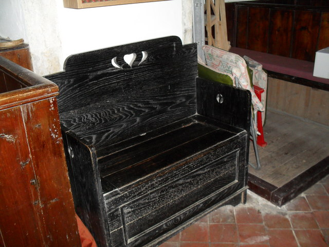 Church chest within St Mary, Bepton